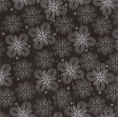 Simple flowers - black
