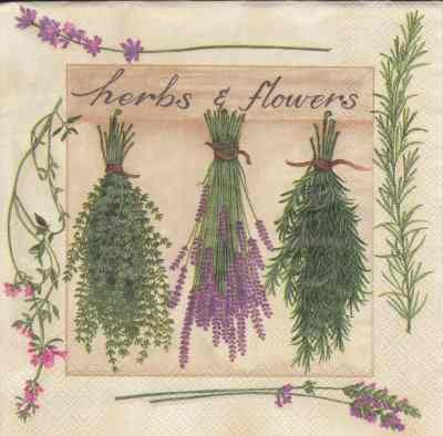 Herbs & Flowers - cream (33)